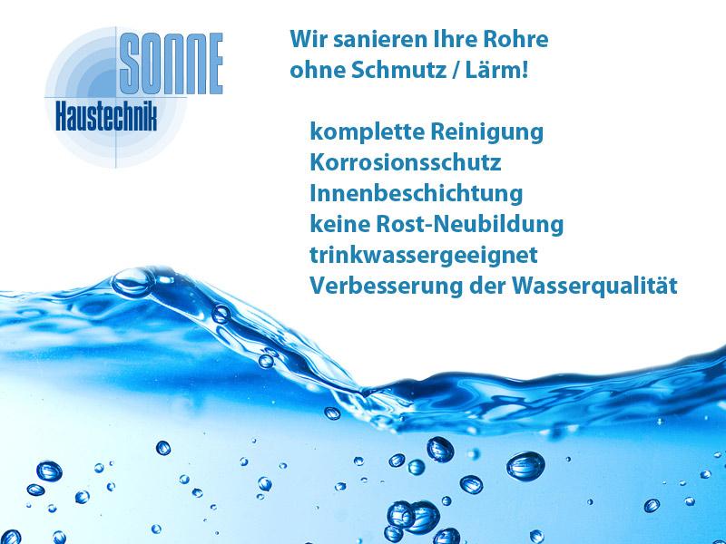 Angebot für eine Rohrsanierung (Trinwasserrohre)