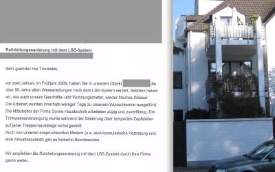 Alte Wasserleitungen saniert in Frankfurt