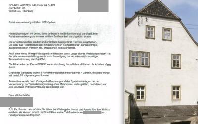 Einfamilienhaus in Hamburg – Sanierung der Wasserleitungen